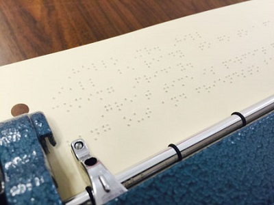 transcribing with a Perkins Braille Writer