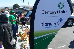 CenturyLink Pioneers Providing Beeping Easter Eggs and Goodies and Entertainment at Annual Easter Party