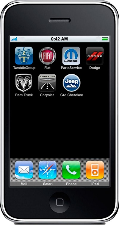 iPhone displaying Apps.